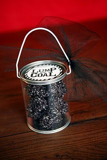 Rice Krispie Treat 'Lump of Coal' ~ All my kids should get this;)