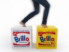 Dwell - Andy Warhol Brillo Pouf