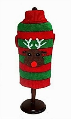 Rudolf Sweater Your pet will be all ready for the holidays in our darling new Rudolf machine washable sweater .  --  BlueRidgePetCenter: Winterize Your Puppy