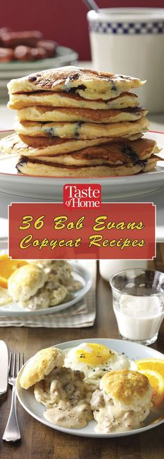36 Bob Evans Copycat Recipes is part of Copycat recipes Bob Evans - Bring that down on the farm feeling to your kitchen with our favorite Bob Evans recipes (especially that trademark Bob Evans sausage gravy! Bob Evans Pancake Recipe, Bob Evans Crepe Recipe, Bob Evans Breakfast Sausage Recipe, Bob Evans Meatloaf Recipe, Ihop Pancake Recipe Copycat, New Recipes, Cooking Recipes, Favorite Recipes, Restaurant