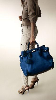 e07450a090dd Large Nubuck Tote Bag