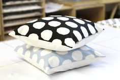 Dotty Pattern Throw Pillow Cover 18 x 18 inch in by ZanaProducts