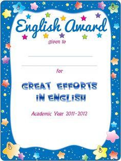 Enjoy Teaching English: END OF YEAR AWARDS (part 1)