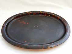 Mammoth Tooth, Tortoise Shell, Pie Dish, Initials, Tray, Dishes, Antiques, Plate, Antiquities