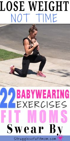 Babywearing workouts are an excellent way to lose unwanted baby weight and bond with your baby. The movement is good for your body and soothing for your baby. Discover 22 exercises you can do with your baby in tow. Pregnancy First, Pregnancy Early Post Baby Workout, Post Pregnancy Workout, Mommy Workout, Baby Weight Workout, Girl Workout, Weight Workouts, Workout List, Workout Guide, Weight Loss Meals