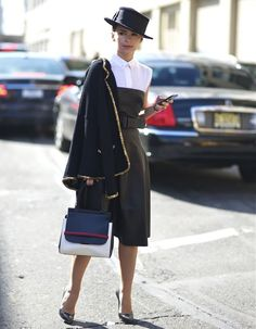 Miroslava Duma with her The Row Bag picture