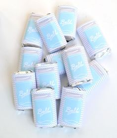 Mason jar mini candy wrappers free printable
