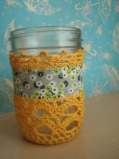 I need to learn how to make these jar cozies.