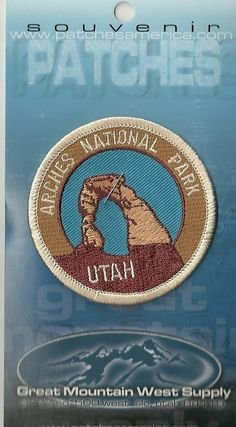 Souvenir Patch Arches National Park Utah | eBay