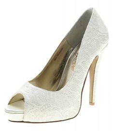 Peep toe - mrs bouquet white @ style tread