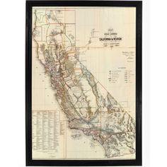 1866 Historic Land Map of California