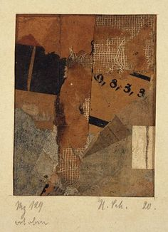 Kurt Schwitters, Mz 129 rot oben 1920