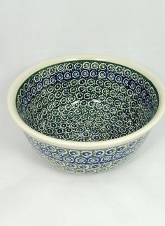 Ceramika Artystyczna painted Polish pottery bowl , handmade in Boleslawiec, Poland