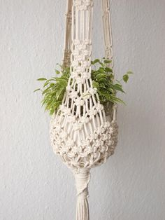 Macrame Plant hanger-indoor Hanging Planter made from natural | Etsy