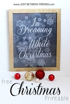 Just Between Friends: Free Christmas Printables