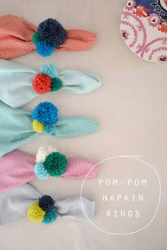 DIY Pom-Pom Napkin Rings   Community Post: 15 DIY Pom-Pom Projects For Jazzing Up Everyday Items
