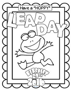FREE Leap Year Coloring Page Poster To Celebrate Day