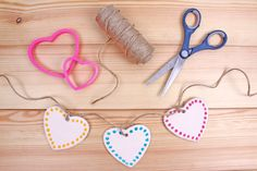 How to Make Air dry Clay Hearts #Clay #Homecraft #Garland