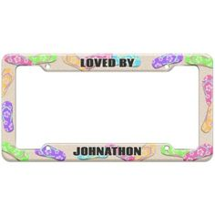 Loved By Male Names - Johnathon - Plastic License Plate Frame