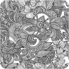 this example would fit with the zentangles lesson. Valentina Ramos Doodles Wall Art by DENY Designs