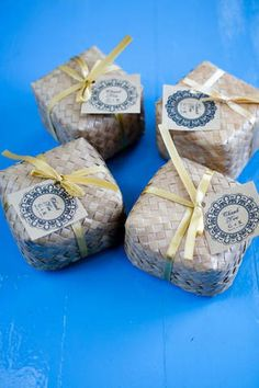Wedding Favors Wedding Favours, Wedding Gifts, Filipiniana Wedding, Filipino Wedding, Wedding Details, Wedding Ideas, Diy Wrapping, Halloween Party Favors, Fiesta Party