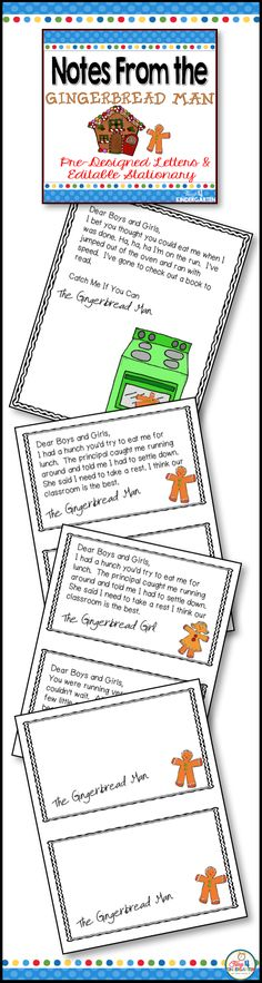 Gingerbread man hunt activities for kindergarten. This set includes predesigned letters and editable stationary for you to created a hunt for the gingerbread man. Kindergarten Math Games, Rhyming Activities, Book Activities, Teaching Resources, Teaching Ideas, Winter Activities, Christmas Activities, Preschool Ideas, Gingerbread Man Activities
