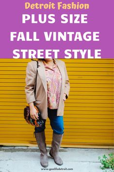 A Cozy Fall Vintage Blazer (and it's plus size, too! Simple Outfits, Cool Outfits, Fashion Outfits, Bold Fashion, Autumn Fashion, Fashion Trends, Fashion Ideas, Plus Size Fall, Plus Size Women