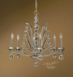 Francois Degueurce: Kane, 6 lt chandelier