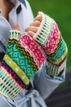 The Gretta Mitt pattern, designed by Tanis Gray, is knit in bold and bright stranded color work with lots of playful design elements. The design matches the Gretta Hat pattern perfectly! Go ahead and knit up a matching hat and mitt set!