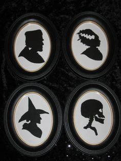 Ghoulish Gallery Halloween Silhouette Set. $88.00, via Etsy.
