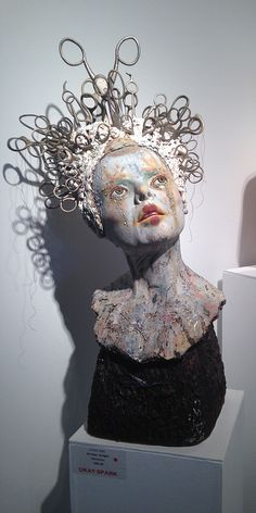 Most up-to-date Snap Shots Ceramics sculpture head Thoughts Kirsten Stingle Pottery Sculpture, Sculpture Clay, Abstract Sculpture, Photo Sculpture, Sculpture Ideas, Ceramic Sculptures, Ceramic Figures, Ceramic Art, Foto Fantasy