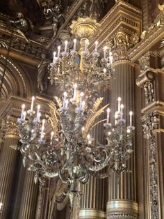 ♡♡♡ Beautiful Chandelier in Opera House in Paris, France 12 August 2015 ♡♡♡