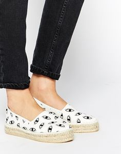 How cute are these eye printed espadrilles?They are making me want to run away to the beach! : http://asos.do/10VteF