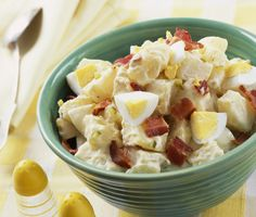 The best potato salad recipes feature good-quality potatoes, homemade dressing and good flavors. This homemade potato salad recipe starts with Yukon gold potatoes. Bacon, celery and pickle relish add sweet-salty flavors to this homemade potato salad.