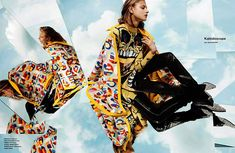 Jacob Sutton captures Anna Selezneva for Numero August 2014. Lucy in the sky with diamonds? More like Anna in the sky with mirrors. Stylist Shelia Single has brought forward a striking collection of designer pieces to feature in Sutton's latest spread including goods from Kenzo, Sonia Rykiel, Giuseppe Zanotti, Prada, Diane Von Furstenberg and Vivienne Westwood..
