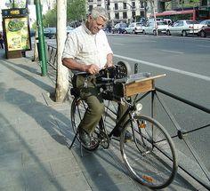 Bicicleta del afilador