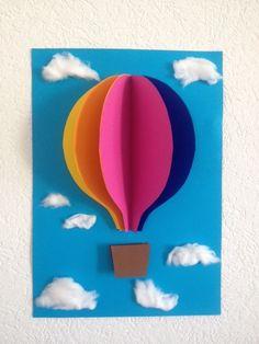 Jane Bastelt: Bild Fürs Kinderzimmer   Heissluftballon 3D