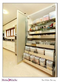 83c2a4d975 An organized kitchen from  Mary Powers Luedeker Kuche VERY densely  organized storage--the