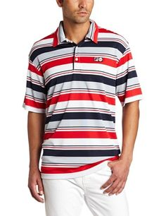 Fila Men's Heritage Multi-Stripe Polo Tee, White, Large by Fila. $48.00. Everyone will be looking at you with envy in this shirt - even more so than usual!
