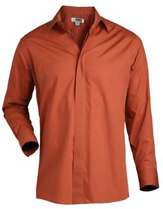 Edwards Long Sleeve Cafe Shirt is long sleeve soft, colorful and hardworking with a wrinkle resistant finish, button down with a covered placket.This performance broadcloth stands up to demanding wear. Perfect for restaurants, coffee shops or catering.
