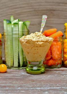 spicy pepper + harissa cauliflower hummus | vegan, paleo + gluten free