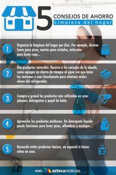 5 consejos de ahorro: Limpieza del hogar #consejosdelhogar