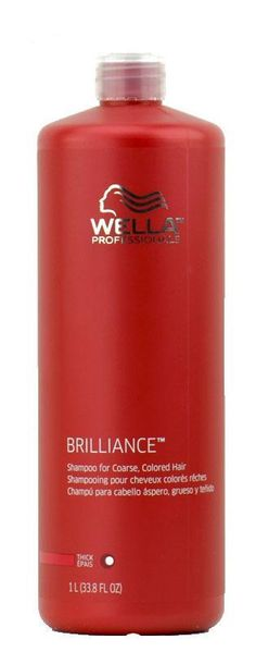 Wella Brilliance Shampoo for coarse Hair Liter 33.8 oz color-treated hair