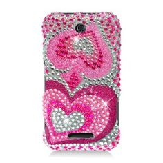 MetroPhones.co PDZTEX500F395 RingBling Brilliant Diamond Case for ZTE Score M/Score X500 - Retail Packaging - Pink Heart: Cell Phone...