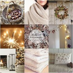 tinywhitedaisies: (via November by Joanne Sandford Seasons Months, Days And Months, Months In A Year, Color Palet, Collages, Love Collage, Hello November, Autumn Scenes, I Love Winter