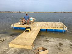 Share plastic barrel boat dock plans how to build floating dock with barrels how to build a floating water dock [. Floating Boat Docks, Floating House, Floating In Water, Building A Dock, Cabana, Lake Dock, Decks, Outdoor Restaurant, Lake Cabins