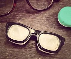 Glasses Shaped Contact Lens Case #glasses #contacts #contactlenses #hipster #geeky