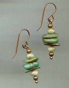 Stacked Stones Earrings #seaglassearringsideas