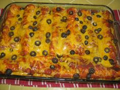 Easy Hamburger Enchiladas- I made this with a few variations. I shredded a potatoe and fried with my hamburger. Then I also added one can of refried beans and one can of enchilada sauce and mix together. Then I added another can of enchilada sauce as directed in the recipe. Pretty darn good!!