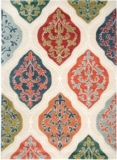 Create the look and feel you desire with this Rizzy Home Arden Loft Sandhurst Transitional Ogee Geometric rug. In beige. Pattern Art, Print Patterns, Dorm Art, Moroccan Pattern, Turkish Art, Textiles, Geometric Rug, Modern Colors, Vintage Design